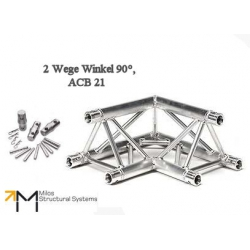 LiteTruss P3-M290, 2 Wege Winkel 90°, ACB 21