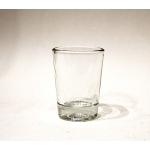 Wind- Teelicht, Glas  8,5 x 6,5 x 6,5