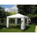 Pavillon 3 x 4m weiß, PE,kpl mit 4 Seitenwänden, zum Selbstaufbau