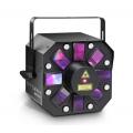 Cameo Storm, 3 in 1 Lichteffekt, 5 x 3W RGBAW Derby, Strobe und Grating Laser