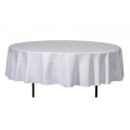 Stofftischdecke, 120er Bankett-Tisch, weiß 1,60m