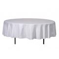 Stofftischdecke, weiß, rund, 240cm für 8er Bankett Tisch