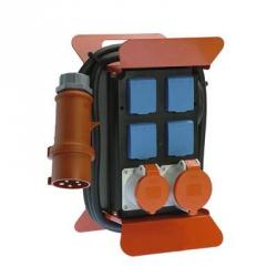 16A Stomverteiler 3  - 6 Schuko-Steckdosen, auch mit Phasenkontrolle