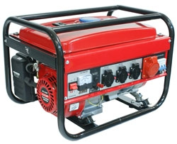 Stromaggregat 4-Takt Motor, Benzin 4,47 kW, Output: 2600 Watt Dauerleistung