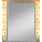 Schminkspiegel, beleuchtet  0,80 x 0,80m