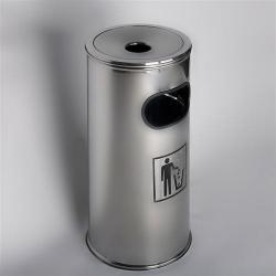 Standascher, mit Abfallfach aus Edelstahl