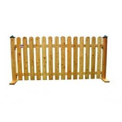Holzzaun 2,00 x 0,80m, Narturfarbend lasiert