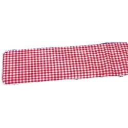 Sitzpolster für Festzeltbank (2 Stück) Rot/Weiß