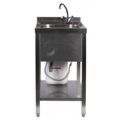 Einzelspüle / Handwaschbecken mit 5 l Warmwasserspeicher