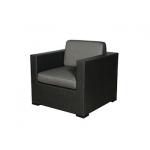 Loungesessel Sorento, schwarz, Kunststoffgeflecht, incl. Sitz- und Rückenpolster anthrazit