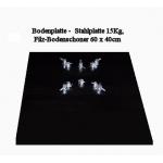 Bodenplatte -  Stahlplatte/Filz, 15Kg, 60 x 40cm, P1, P2, P3 &  P4 ( 5 Bohrungen)