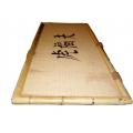 Bambustisch, 220 x 60cm auf Stahlgestell
