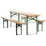 Festzeltgarnitur - 1 Tisch ( 50er Breite)  2 Bänke