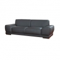 Sofa , 2-Sitzer, Kunstleder, schwarz