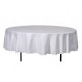 Stofftischdecke, weiß, rund, 160cm für 6er Bankett Tisch