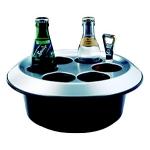Konferenzkühler Fredo, schwarz für 6 Flaschen inkl. Akku