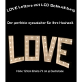 Love Letters, 120cm x 70cm je Buchstabe, mit LED Beleuchtung