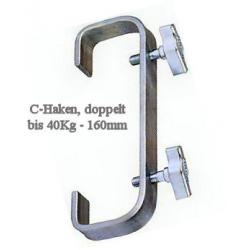 C- Haken doppelt 160mm, 50mm Pipes