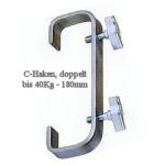 C- Haken doppelt 180mm, 50mm Pipes
