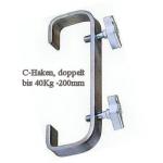 C- Haken doppelt 200mm, 50mm Pipes