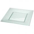 Platzteller, Glas, 30 x 30cm,