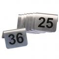 Tischnummern, Edelstahl, 1 - 99