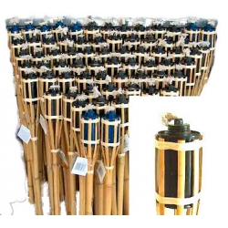 Gartenfackel, Bambusfackel, (ohne Lampenöl), 1,20m