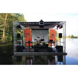 Schwimmbühne 4 x6 mit Sommerdach, Traversencarée