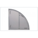 Nivtec System - Podest  Plexiglas 1,0m Viertelkreis