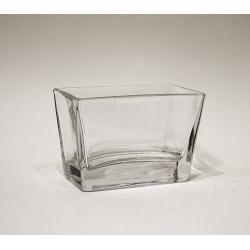 Vase, Windlicht Glas viereckig 7 x 10,5 x 6