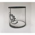 Vase, Windlicht Glas rund 15 x 15 x 15