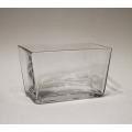 Vase, Windlicht, Glas viereckig 8,5 x 14 x 8,5