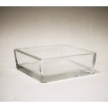 Vase, Windlicht Glas viereckig 4 x 11 x 11