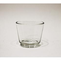Wind- Teelicht, Glas 6 x 7,5 x 7,5