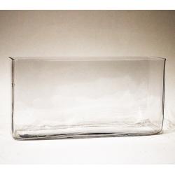 Vase, Windlicht, Glas viereckig 12 x 23,5 x 7