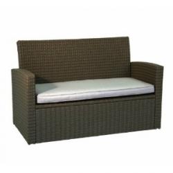 Loungesofa, Greenmotion, 2-Sitzer, Kunststoffgeflecht,incl. Sitzpolster , braun