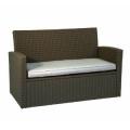 Loungesofa, Greenmotion, 2-Sitzer, Kunststoffgeflecht,inkl. Sitzpolster , grau