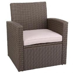Loungesessel, Greenmotion Kunststoffgeflecht,incl. Sitzpolster , braun