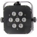 TRI LED ( 7 x 3Watt Led)im Case,  inkl, Steuerung und Stativ