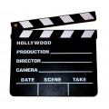 Deko, Requisite Filmklappe, Holz, 20 x 18cm -