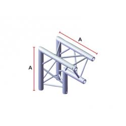 LiteTruss P3-M290, 2 Wege Winkel 90°, Spitze innen ACB 25