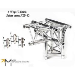 LiteTruss P3-M290, 4 Wege T-Stück, Spitze unten ATP 42
