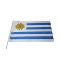 Stockfahne 30 x 40cm Uruguay