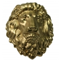 Deko Löwenkopf, Gold, 30cm