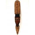 Marterpfahl  Indianische Holzmaske, ca. 78 cm Höhe