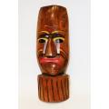 Indianische Holzmaske, ca. 50 cm Höhe
