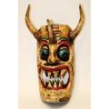 Mexikanische Holzmaske, ca 40 cm Höhe