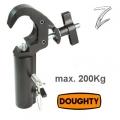 TV-Zapfenadapter mit Trigger Hook Clamp, schwarz,  DOUGHTY