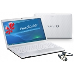 Notebook Sony Vaio mit Steuerdongle und Freestyler - Software