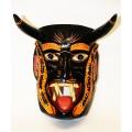 Mexikanische Holzmaske, ca 25 cm Höhe